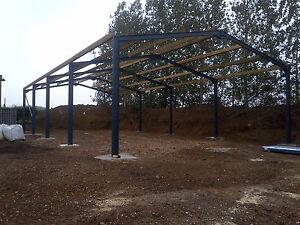 CE STEEL FRAMED BUILDING PORTAL FRAME  30ft X 20ft X 8ft to eaves