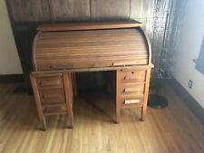Antique Roll Top Tiger Oak Desk