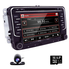 Camera+VW Golf 5 6 MK5 Passat CC EOS Car DVD Player Radio GPS BT Stereo 8GB Map