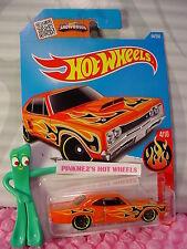 2016 i Hot Wheels '69 DODGE CORONET SUPERBEE #94✰Hemi Orange✰Flames✰Case M/N/Q