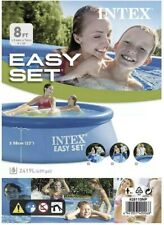 New listing Intex 8ft x 30in Easy Set Inflatable Above Ground Swimming Pool (No Pump) Fast🚚