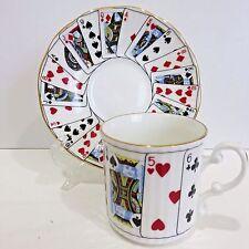 "Demitasse Elizabethan Staffordshire Bone China Teacup & Saucer ""CUT FOR COFFEE"""
