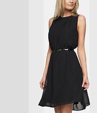 APART Chiffonkleid NEU Abendkleid Cocktail Kurzes Damenkleid schwarz 30722 #104