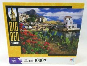 NIB MB Big Ben Capo Zafferano Sicily Italy 1000 Piece Jigsaw Puzzle SEALED 2008!