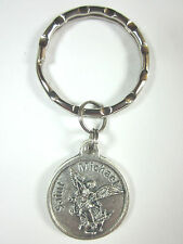 "3/4"" St Michael / Police Officer Medal Key Ring"