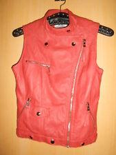 Perfecto veste blouson sans manches orange simili cuir SOFTY jamais mis  S 34/36