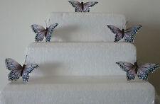 9 (2 tonos gris) Pluma Mariposas Aprox 8 Cm para Artesanía/pasteles/decoración Navidad/todos