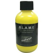 Mehron BLAME Black Light Activated Neon Cream Makeup Face Paint Bottles