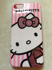 Striped Hello Kitty Bling Hard Cover Case For iPhone 4 4S