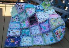 rag quilt I spy throw girl 25 interesting prints all flannel handmade USA #62g