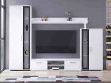 Wohnwand Cambree II TV-Lowboard Wandboard Wohnzimmer Modern Beleuchtung M24