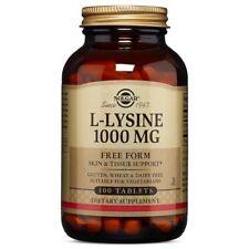Solgar L-Lysine 1000 mg - 100 Tablets FRESH, FREE SHIPPING, MADE IN USA