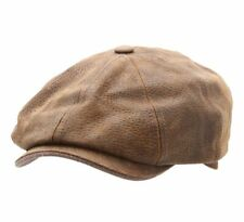 Stetson  Men's Burney  Leather Flat Cap