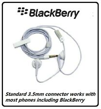 Genuine BlackBerry 3.5mm Stereo Handsfree Headset Earphones - White HDW-24529-00