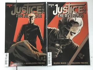 2x JUSTICE  INC THE AVENGER # 2 & 3 ~ The Shadow / Doc Savage ~ MARK WAID Story!