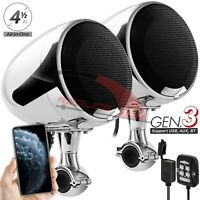 Waterproof Bluetooth Motorcycle Stereo Speakers 600W Amplifier Audio System USB