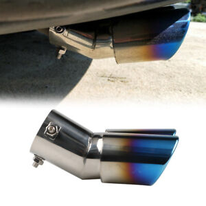 1*Stainless Steel Car Rear Dual Exhaust Pipe Tail Muffler Tips Throat Tailpipe