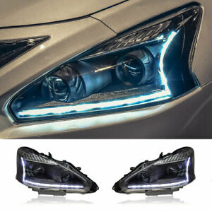For Nissan Altima LED Headlights Projector DRL Replace OEM Headlight 2013-2015