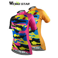 Weimostar Women's Cycling Jersey Pro Team Sports Short Sleeve Clothing S-5XL