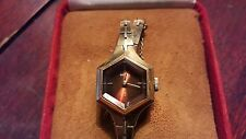 Vintage Seiko Womens Quartz Art Deco Design - Gold Plated Case/Band + Velvet/Sue