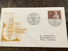 Finland Stamp Fdc 1963 Nalka Pois 1963