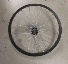 "BLACK 18"" bmx bike REAR wheel 14mm AXLE fits haro redline se others NEW"