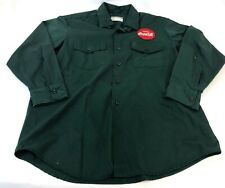 Vintage Masterprest Riverside Green Coca-Cola Delivery Driver Uniform Shirt 16 S