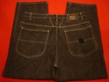 Mens Girbaud Baggy Fit Black Jeans size 36 x 28