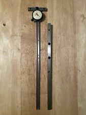 Starrett No450 12 Dial Depth Gage With 450e 12 Base Extension Free Shipping