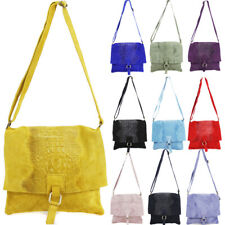 Ladies Suede Leather Snake Cross Body Messenger Bag Women Shoulder Over Bags Han