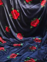 "1 Meter Printed Designer Velvet fabric Upholstery Dress curtains 58""Wide Stretch"