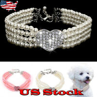 Pet Puppy Small Dog Jewellery Necklace Party Pearl Collar With pet Accessories