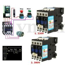COIL AC Contactor Motor Starter Relay CJX2-1801 3 Phase POLE 18A +1NC 220V/380V