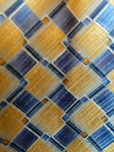 Blue and Yellow Boys Silk Tie Pre-tied Boys Tie Zipper Tie w/the Perfect Knot
