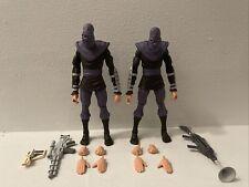 Neca TMNT 2 Cartoon Foot Soldier 2-pack Loose Figures