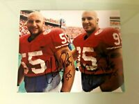 NEBRASKA FOOTBALL CHRISTIAN PETER #55 & JASON PETER #95 DUAL SIGNED PHOTO WOW !!