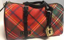 Dooney & Bourke*RED/Green*Tartan Plaid*Speedy Bag Satchel *17091C S223