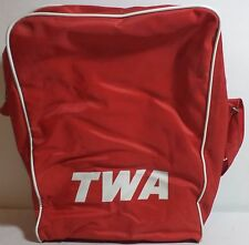 VHTF TWA TRANS WORLD AIRLINES VINTAGE RED TRAVEL BAG