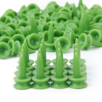 100pcs Small Green Plastic Golf Tee Step Castles Tee Tees 23mm