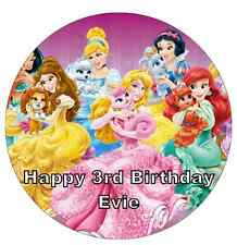 "Disney Princess Palace Pets Personalised Cake Topper 7.5"" Edible Wafer Paper"