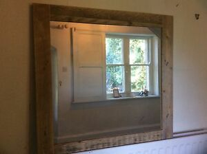Rustic Large Mirror made from Reclaimed Pallet Wood