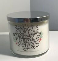 Bath & Body Works It's The Most Wonderful Time Of The Year 3 WICK Candle NEW