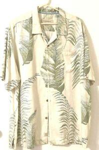Fern Print Tommy Bahama Silk Shirt XL