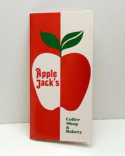 Vintage Restaurant Menu Apple Jacks Coffe Shop c1973