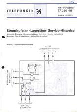 Telefunken Original Service Schaltplan für TA 350 hifi