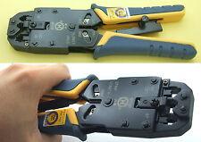 1PCS RJ45 Ethernet & RJ11 Ratchet Modular Phone Cables Crimper Tool for 8C 6C 4C