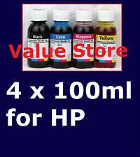 4x 100ml = 400ml Refill Inks for HP 564 & HP 564XL Cart