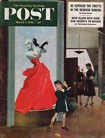 1952 Saturday Evening Post March 1-Sicily-Giuliano;Burlington VT; Theatre  Round