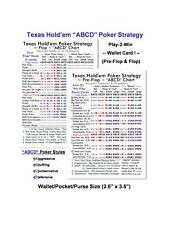 Texas Holdem Poker ABCDs Strategy I (Pre-Flop & Flop) Wallet Card