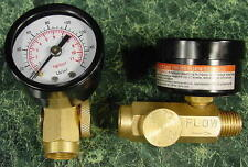 160 PSI INLINE BRASS AIR REGULATOR w/GAUGE new tool reg control filter regulate